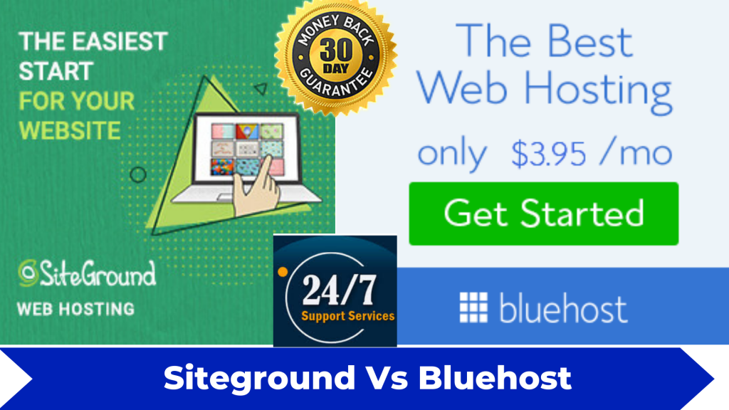 siteground vs bluehost web hosting reviews