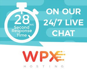 wpx hosting average performance or response time