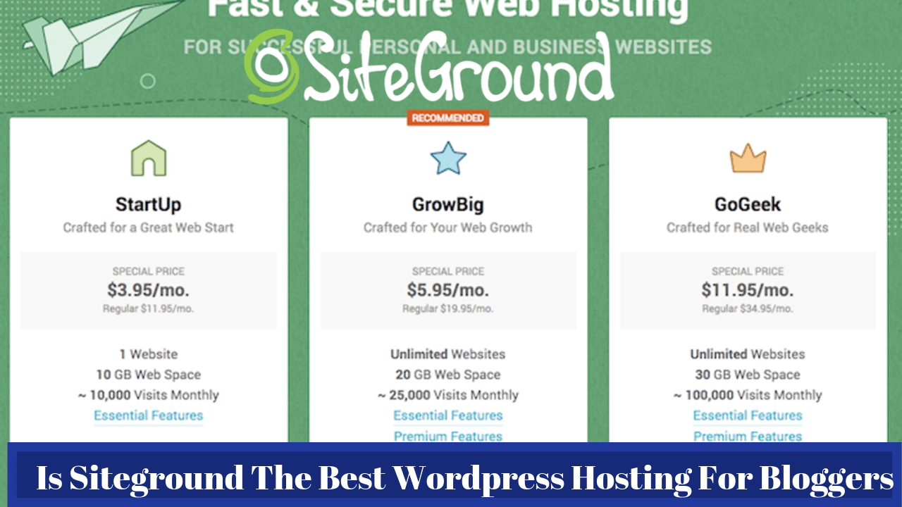Is Siteground The Best WordPress Hosting For Bloggers