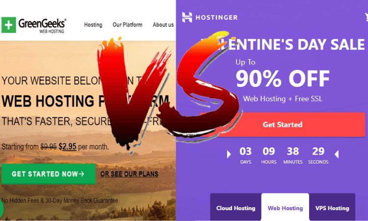 Greengeeks vs Hostinger