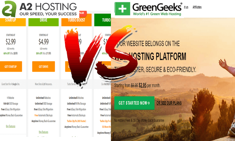 greengeeks vs a2 hosting